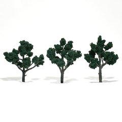 "Woodland Scenics 4-5"" Dark Green Premium Trees 3/Pk"