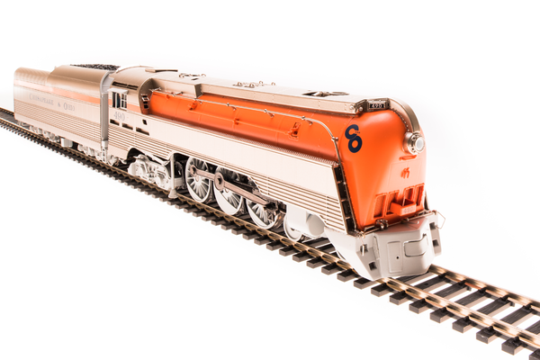 Broadway Limited Ho Scale Chesapeake & Ohio L-1 4-6-4 Orange Brass Hybrid