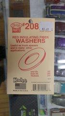 Kadee #208 Red Insulating Fiber Washers (.015 Thickness)