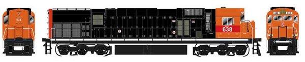 Bowser HO Scale WNY&PA Ex Cartier M636 DCC W/Loksound & Ditchlights