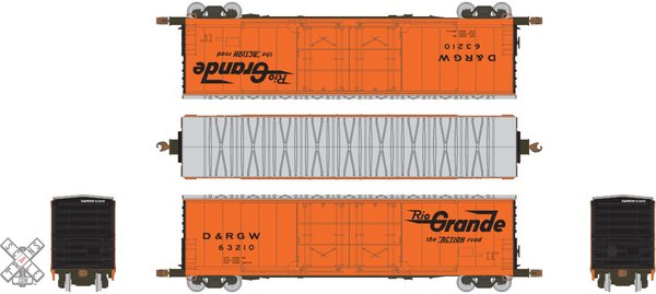 Scaletrains Kit Classics Ho Scale 50' Evans 5100 8 Double Plug Door Boxcar Rio Grande