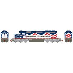 Athearn Ho Scale SD40 UP/United Way #3300 DCC & Sound *Pre-order*
