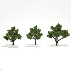 "Woodland Scenics 3-4"" Light Green Premium Trees 3/Pk"