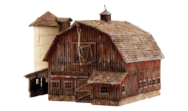 Woodland Scenics HO Scale Built & Ready Old Weathered Barn