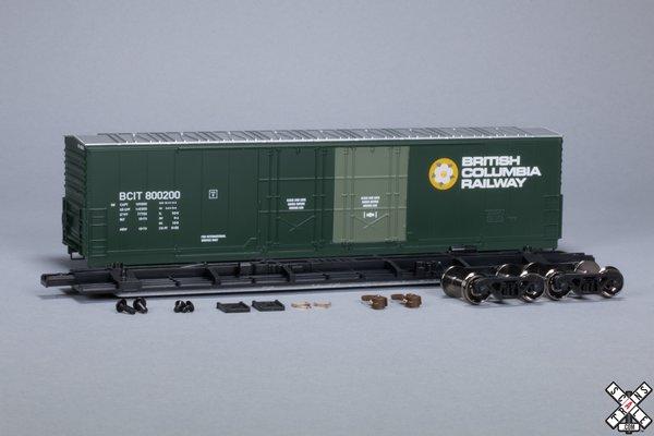 Scaletrains Kit Classics Ho Scale 50' Evans 5100 8 Double Plug Door Boxcar British Columbia Railway