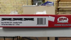 Atlas Ho Scale 70 Ton Hart Ballast Canadian Pacific 3 Pack