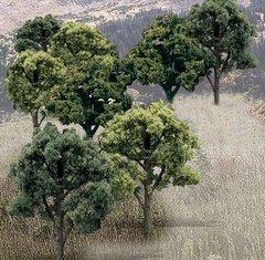 "Woodland Scenics 3-5"" Mixed Green Premium Trees 14/Pk"