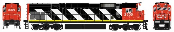 Bowser HO Scale Canadian National M636 Sergeant Stripe DCC Ready