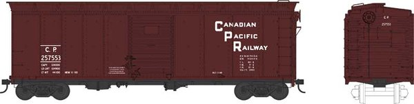 Bowser Ho Scale Canadian Pacific 40ft Boxcar *Pre-order*