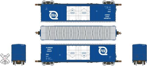 Scaletrains Kit Classics Ho Scale 50' Evans 5100 8 Double Plug Door Boxcar Florida East Coast