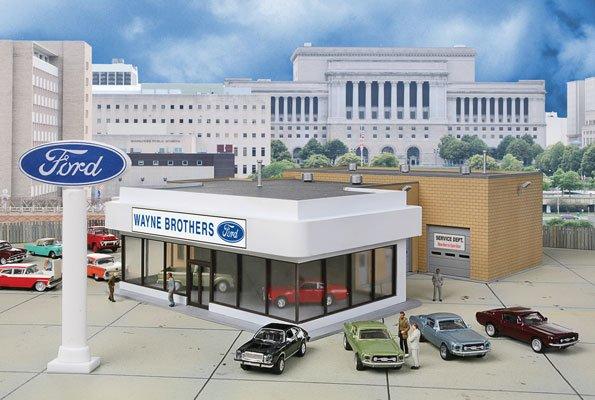 Walthers Cornerstone HO Scale Wayne Bros. Ford Dealership