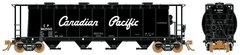 Rapido Ho Scale 3800 Cu. Ft. Cylindrical hopper CP Script 6 Packs *Pre-order*