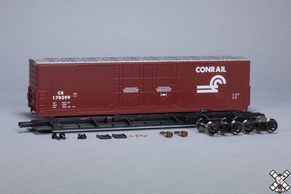 Scaletrains Kit Classics Ho Scale 50' Evans 5100 8 Double Plug Door Boxcar Conrail