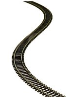 "Atlas HO Scale Code 83 Flex Track Brown Ties 36"" sections"