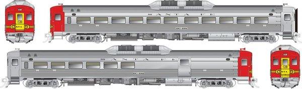 Rapido Ho Scale RDC-1/RDC-2M Set Atchison Topeka & Santa Fe DCC W/Sound *Pre-order*