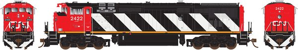 Rapido Ho Scale Dash8-40CM Canadian National Stripes DCC W/Sound & Ditchlights