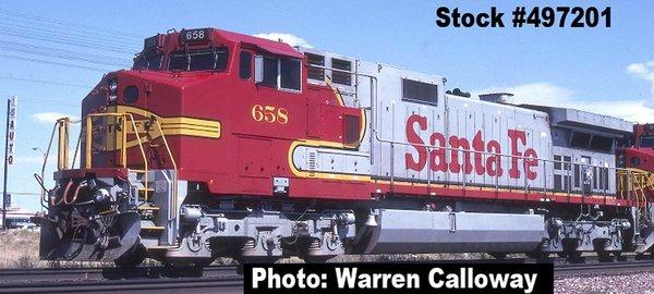 Intermountain Railway Ho Scale C44-9W (Dash 9) Santa Fe DCC NON - Sound *Pre-Order