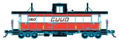 Trueline Trains Ho Scale Point St Charles Caboose GWWD