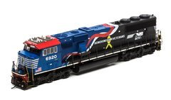 """Athearn Genesis Ho Scale SD60E Norfolk Southern #6920 """"Honoring Our Veterans"""" Paint scheme DCC & Sound *Pre-order*"""