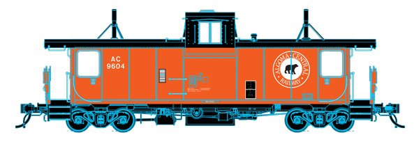 Trueline Trains Ho Scale Point St Charles Caboose Algoma Central