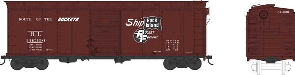 Bowser Ho Scale Rock Island 40ft Boxcar *Pre-order*