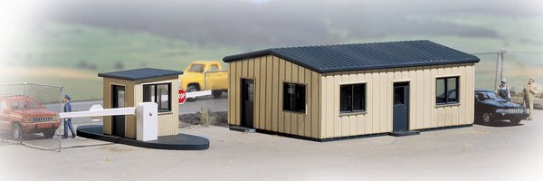 Walthers Cornerstone HO Scale Office & Guard Shack