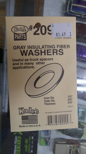 Kadee #209 Gray Insulating Fiber Washers (.010 Thickness)