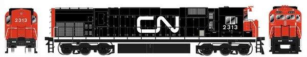 """Bowser HO Scale Canadian National M636 """"Black & Orange As Delivered"""" DCC W/Loksound"""