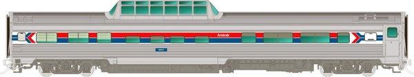 Rapido Ho Scale Budd Mid Train Dome Cars Amtrak *Pre-Order*