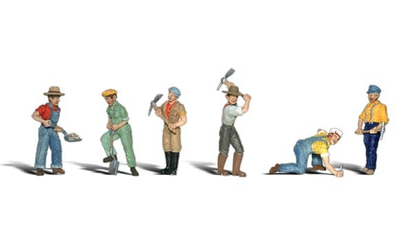 Woodland Scenics Ho Scale Track Workers Figure Pack