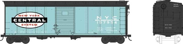 Bowser Ho Scale New York Central 40ft Boxcar *Pre-order*
