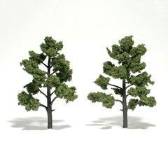 "Woodland Scenics 5-6"" Light Green Premium Trees 2/Pk"