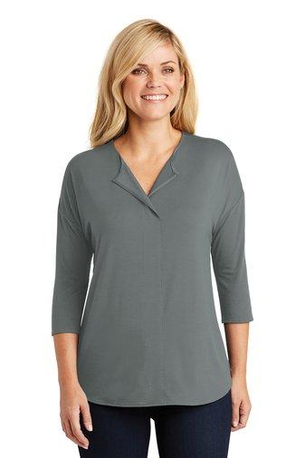 Port Authority® Ladies Concept 3/4-Sleeve Soft Split Neck Top
