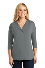 Port Authority® Ladies Concept 3/4-Sleeve Soft Split Neck Top