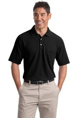 Port Authority® EZCotton™ Pique Polo w Pocket
