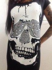 Skull, T Shirt Dress