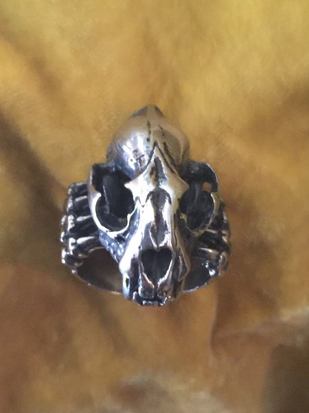 Cat Skull Ring