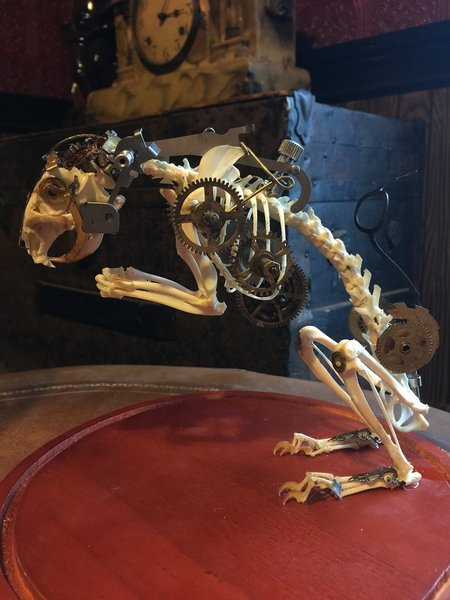 Steampunk Squirrel Skeleton