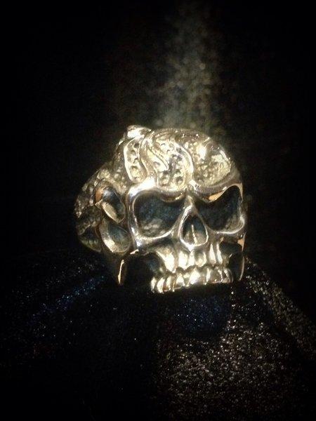 Flaming Skull Ring