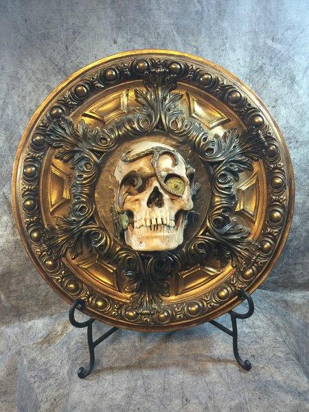 Steampunk Skull Centerpiece