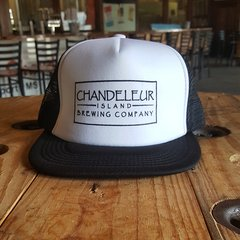 Chandeleur Island Brewing Company White/Black Hat