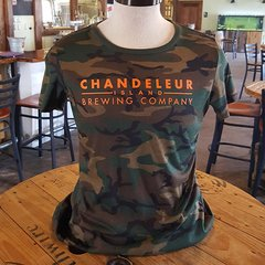 Chandeleur Island Brewing Company Camo Womens T-Shirt