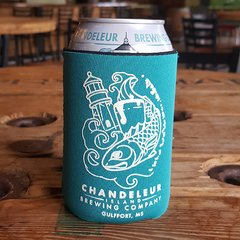 Chandeleur Island Brewing Company Teal Koozie