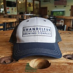 Chandeleur Island Brewing Company Blue and Gray Trucker Hat