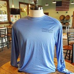 Chandeleur Island Brewing Company Long Sleeve Light Blue Shirt