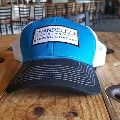 Chandeleur Island Brewing Company Light Blue/Navy and White Hat