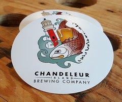 Chandeleur Island Brewing Company Colored Logo Sticker