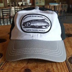 Chandeleur Island Brewing Company Tarpon Tagging Project White/Black and Gray Hat