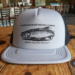 Chandeleur Island Brewing Company Tarpon Tagging Project Gray/Black Hat