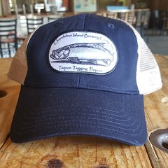 Chandeleur Island Brewing Company Tarpon Tagging Project Navy/White Hat